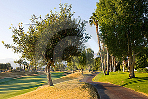 Cart Path At Golf Course Royalty Free Stock Images - Image: 22575799