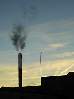 Smokestack Silhouette Royalty Free Stock Images - Image: 2261309