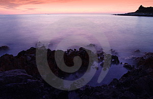 Long Exposure Evening Sea Shot Royalty Free Stock Photography - Image: 2266037