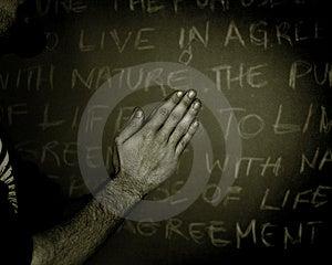 Preghiera a scuola Fotografia Stock Libera da Diritti