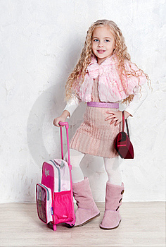 Little Tourist Girl Royalty Free Stock Photo - Image: 22610235