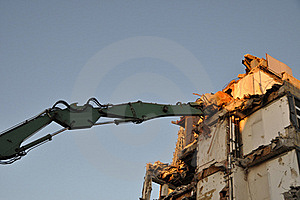 Demolition Digger Stock Image - Image: 22612911