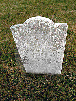 Old Unmarked Headstone On Grass Royalty Free Stock Image - Image: 22617076