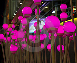 Decorate With Pink Lights Stock Photo - Image: 22624370