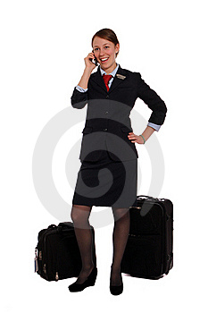 Flight Attendant Done Work Royalty Free Stock Images - Image: 22627909