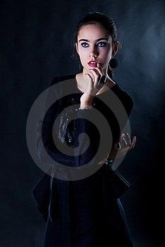 Portrait Of Nice Thoughtful Teen Girl Studio Shot Royalty Free Stock Images - Image: 22633249