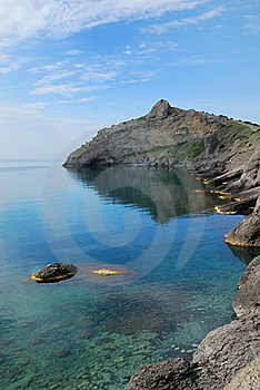Pointed Cape Kapchik On The Crimean Coast. Royalty Free Stock Photos - Image: 22638278