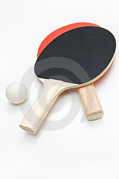 Ping Pong Paddles And Ball Stock Images - Image: 22643134
