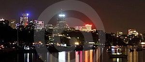 North Sydney Skyline At Night Royalty Free Stock Photos - Image: 22645068
