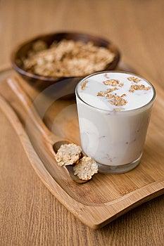 Healthy Breakfast Of Muesli With Milk Stock Photography - Image: 22647822