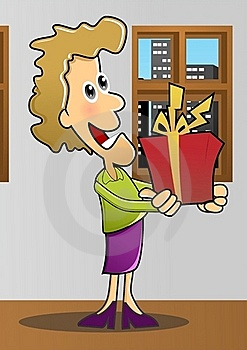 Give A Gift  With Background Stock Photo - Image: 22650700