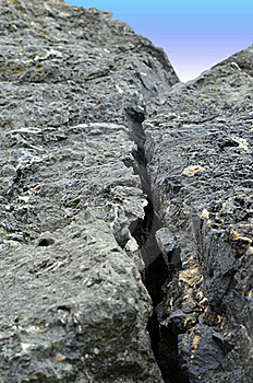 Crack In Rock Stock Photos - Image: 22650913