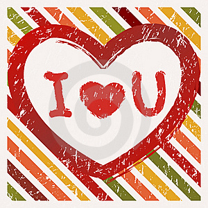 Valentine's Day Background   In Grunge Style Royalty Free Stock Photo - Image: 22653075