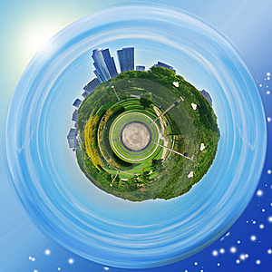 Grant Park Planet (Chicago) Royalty Free Stock Images - Image: 22653489