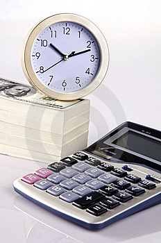 Calculating Time And Money Stock Photography - Image: 22657972