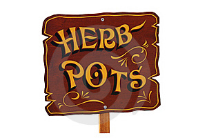 Herb Pots. Royalty Free Stock Images - Image: 22659299