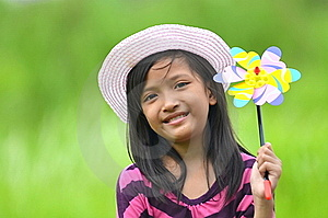 Cute Girl With A Toy Stock Images - Image: 22659354