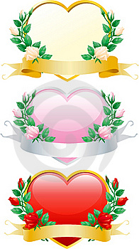 Set Of Valentines Hearts Stock Photo - Image: 22670090