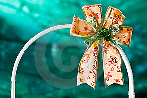 Gold Gift Ribbon On Arc Royalty Free Stock Photos - Image: 22673338