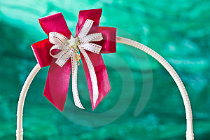 Red Gift Ribbon On Arc Stock Image - Image: 22673361
