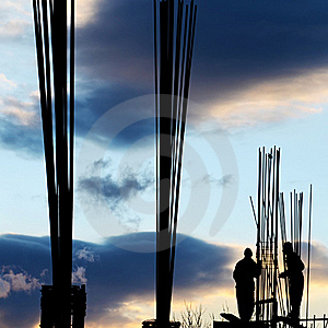 Workers' Silhouette Stock Photo - Image: 22687810