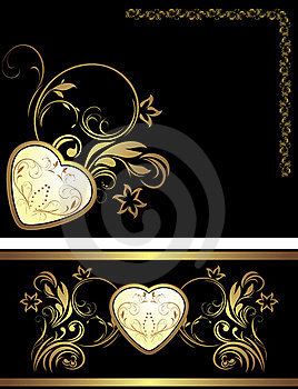 Ornamental Elements With Heart For Decor Royalty Free Stock Photo - Image: 22693145