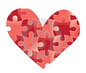 Heart Puzzle. Love Background. Royalty Free Stock Image - Image: 22695766
