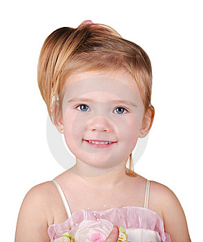 Portrait Of Beautiful Little Girl Royalty Free Stock Images - Image: 22696159