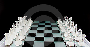 Chess - The Game is on Royalty Free Stock Image