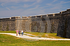 Old Fort Wall And Dry Moat Stock Image - Image: 2278421