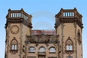 Moorish Spanish 2 Tower House Royalty Free Stock Photo - Image: 2278895