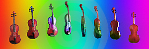 The Rainbow Violin Royalty Free Stock Photo - Image: 2279115