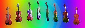 The Rainbow Violin stock image. Image of prepare, musical - 2279115
