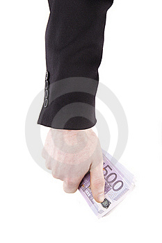 Hand With Euro Stock Photo - Image: 22708480