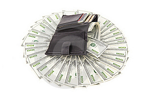 Image Wallet With Dollar Royalty Free Stock Photography - Image: 22708567