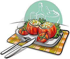 Stuffed Tomatoes Stock Photos - Image: 22709113