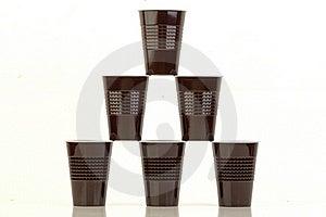 Tazze Di Plastica. Immagine Stock - Immagine: 22709831