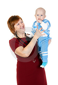 Grandmother With Grandson In Her Arms Royalty Free Stock Image - Image: 22716576