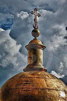 Golden Dome Of The Church Stock Photos - Image: 22716593