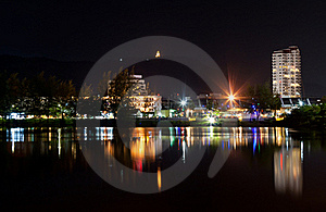 View The City At Night Royalty Free Stock Photos - Image: 22716638