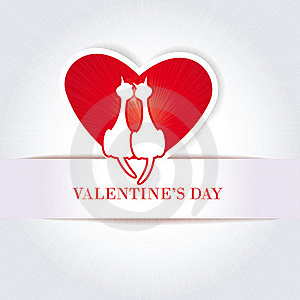 Cute Card On Valentine's Day Stock Photography - Image: 22720082