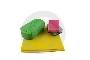 Yellow Rage And Sponges Stock Images - Image: 22722274