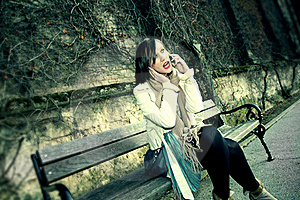 Young Woman Talking On Phone Stock Photos - Image: 22729663