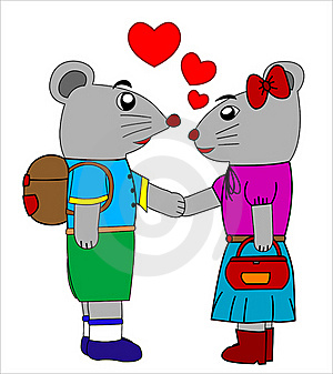 Mouse In Love Stock Images - Image: 22741984