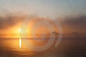 Fishing At Sunrise, Landscape Stock Photography - Image: 22744762