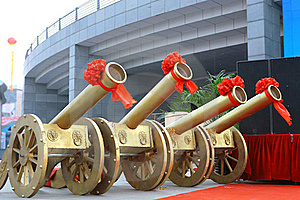 Color Artillery In Celebration Stock Photography - Image: 22744952