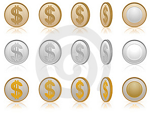 Dollar Coins Stock Photo - Image: 22752280