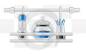Hygiene Items On Shelf Royalty Free Stock Images - Image: 22763209