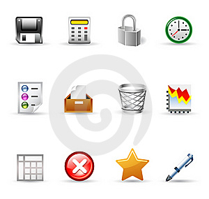 Office Icons Stock Images - Image: 22763294