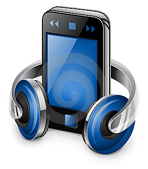 Personal Media Player And Headphones Stock Photography - Image: 22763322